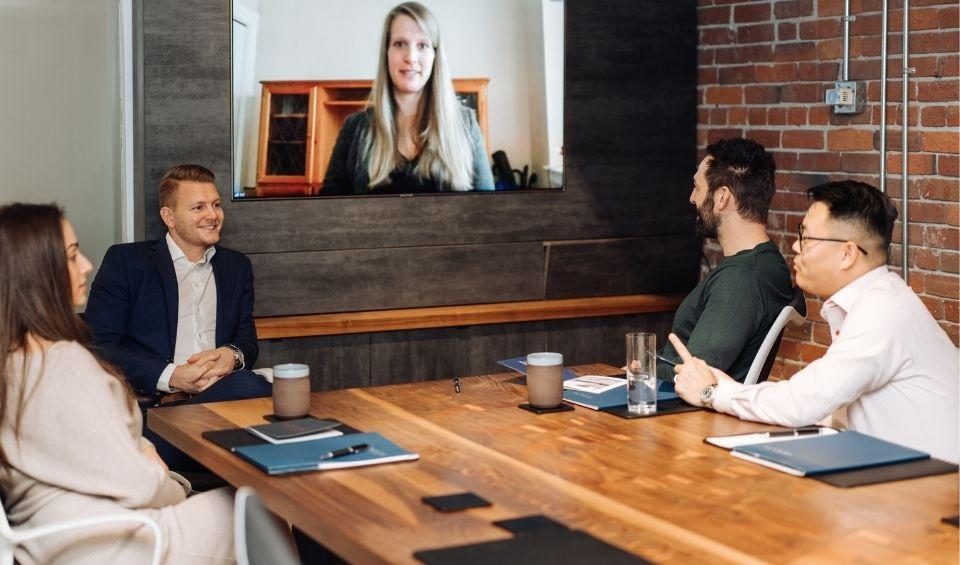Ocean 6 financial advisors hosting a zoom meeting